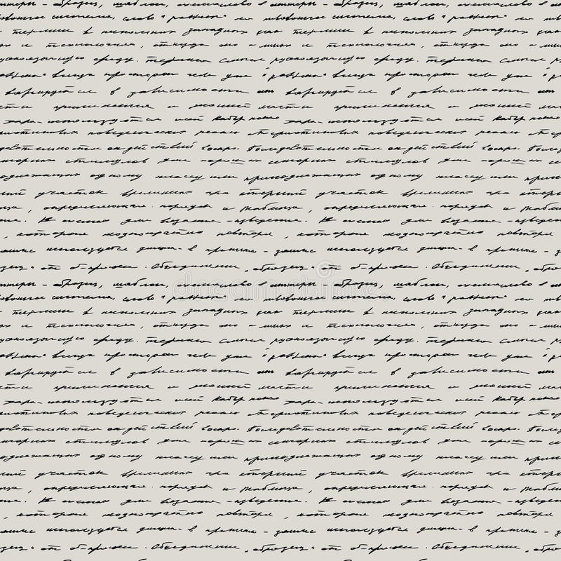 Handwriting. Seamless vector background. stock illustration