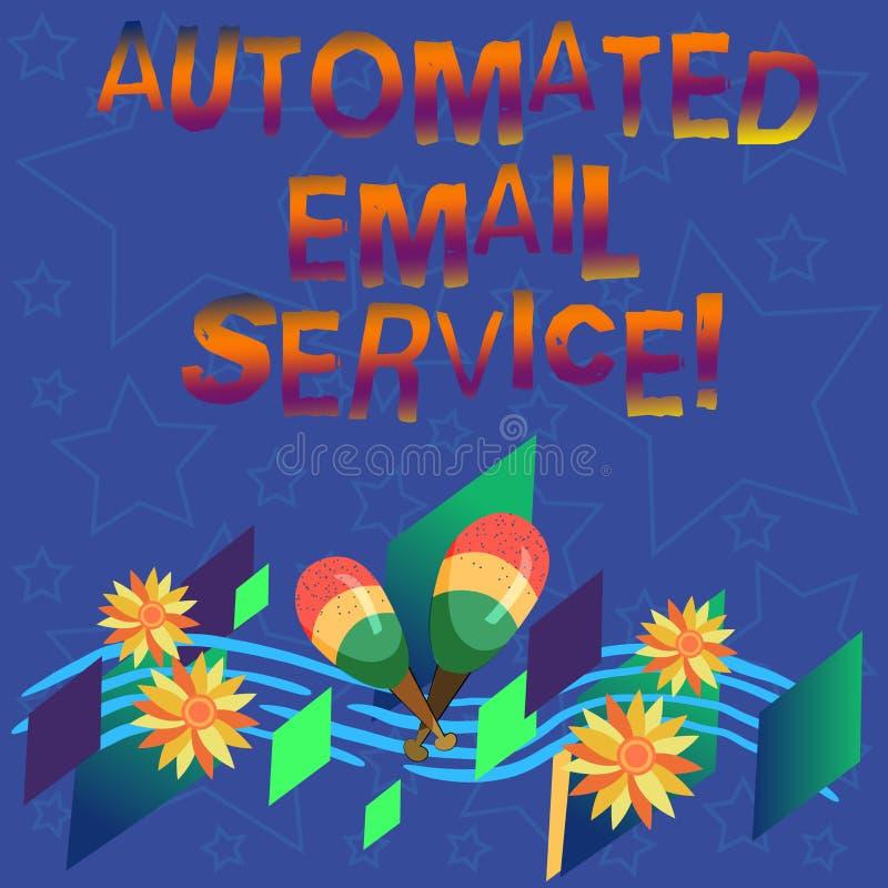 Handwriting tekst Automatyzująca poczta elektroniczna Pojęcie znaczy automatyczny podejmowanie decyzji opierający się na dużych d royalty ilustracja