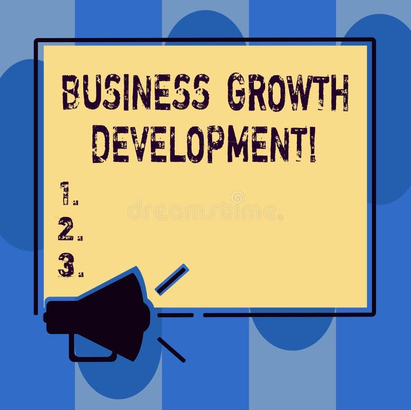 Handwriting tekst pisze Biznesowym Wzrostowym rozwoju Pojęcie znaczy ulepszający niektóre miarę przedsięwzięcie sukces ilustracja wektor