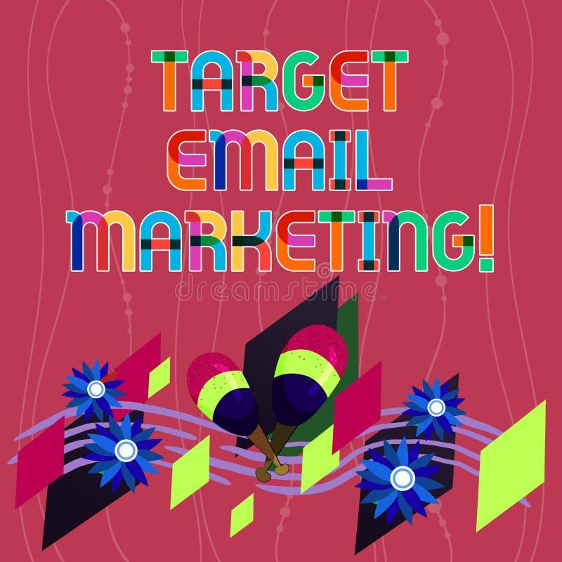 Handwriting tekst pisze celu emaila marketingu Pojęcia znaczenia reklama wysyła cel lista odbiorcy Kolorowi zdjęcia royalty free