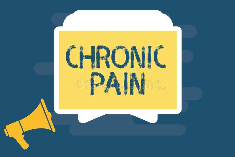 Handwriting tekst pisze Chronicznym bólu Pojęcia znaczenia ból który przedłużyć poza oczekiwać okres gojenie ilustracja wektor