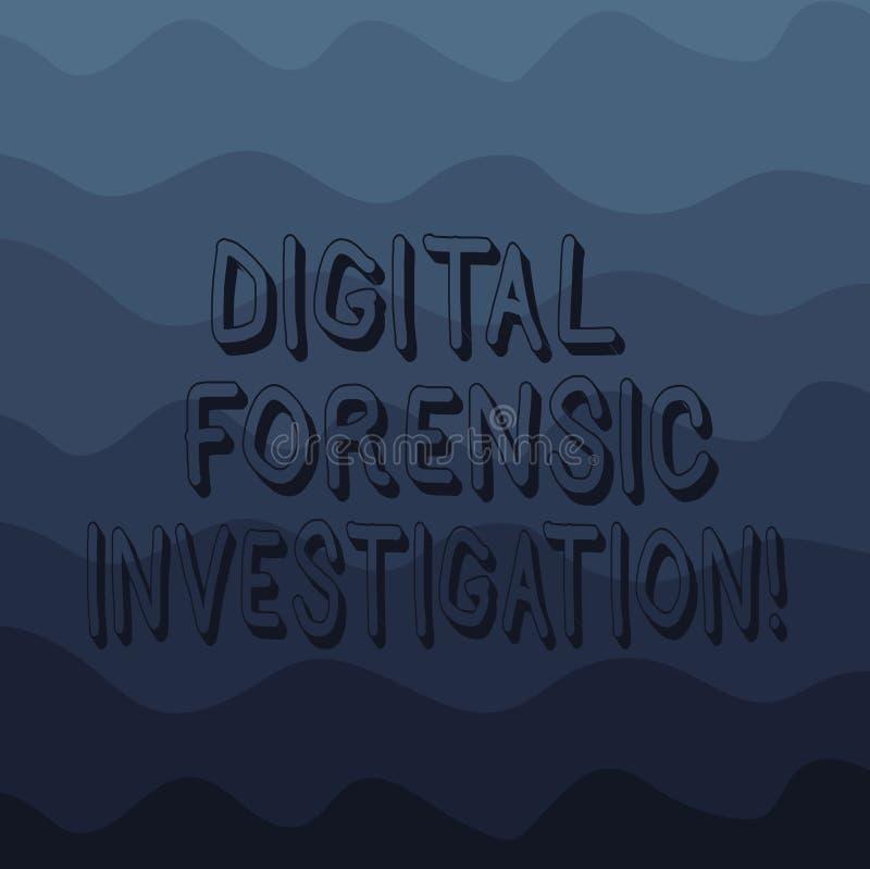 Handwriting tekst pisze Cyfrowemu Sądowym dochodzeniu Pojęcia znaczenia wyzdrowienie informacja od komputerów Macha fotografię Wi ilustracji