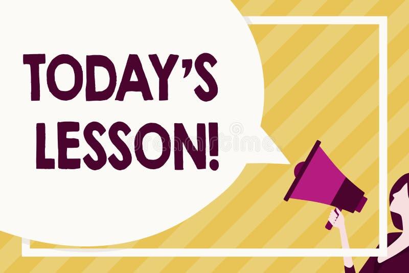Handwriting tekst pisze Dzisiaj S Jest Lekcyjny Pojęcia znaczenie pyta dla indywidualnej nauki wyznacza Coś uczącym się ilustracja wektor