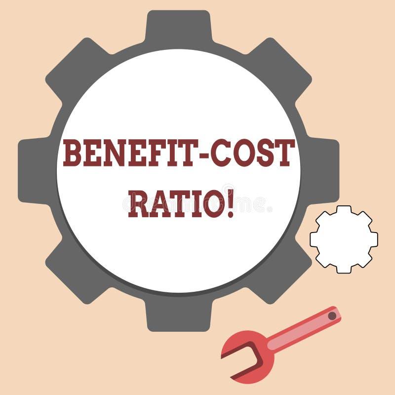 Handwriting tekst pisze korzyść kosztu współczynniku Pojęcia znaczenia związek między korzyściami projekt i kosztami ilustracji
