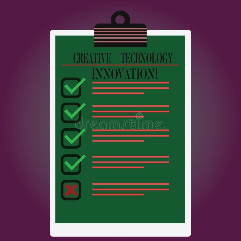 Handwriting tekst pisze Kreatywnie technologii innowacji Pojęcia znaczenie spuszczać ze smyczy umysł poczynać nowych pomysły Wykł royalty ilustracja