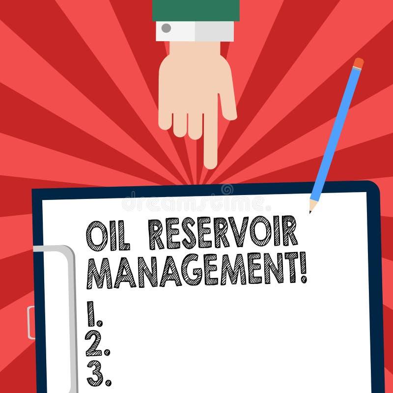 Handwriting tekst pisze Nafcianego rezerwuaru zarządzaniu Pojęcia znaczenie analysisaging wyzdrowienie gaz naturalny od skały ilustracja wektor