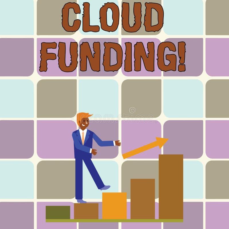 Handwriting tekst pisze Obłocznym finansowaniu Pojęcia znaczenia finansiści łączą ogólnospołecznego networking z projekta gromadz ilustracja wektor
