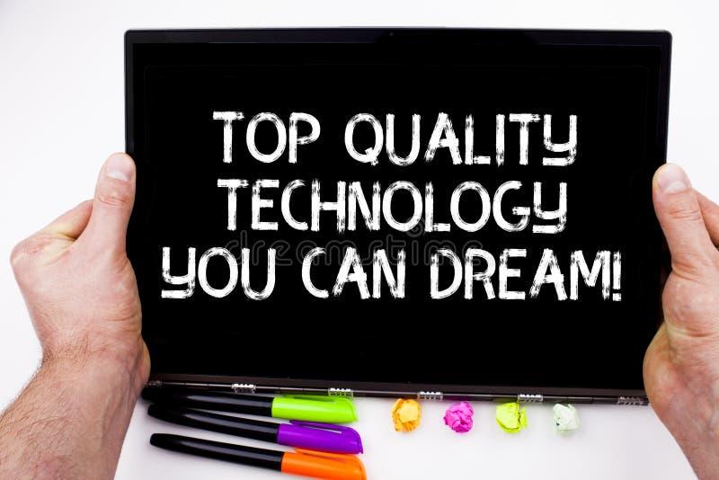 Handwriting tekst pisze Odgórnej ilości technologii Ty Możesz Marzyć Pojęcie znaczy Najlepszy nowożytne technologiczne cechy zdjęcia royalty free
