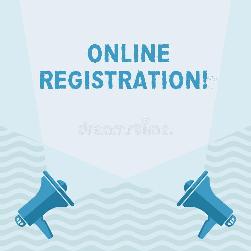Handwriting tekst pisze Online rejestraci Pojęcia znaczenia registratura przez interneta jako użytkownik produktu puste miejsce ilustracji