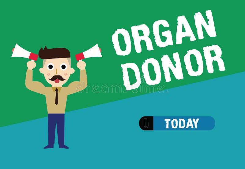 Handwriting tekst pisze Organowego dawcy Pojęcie znaczy A demonstrować organ ich ciała czego dla od oferuje royalty ilustracja