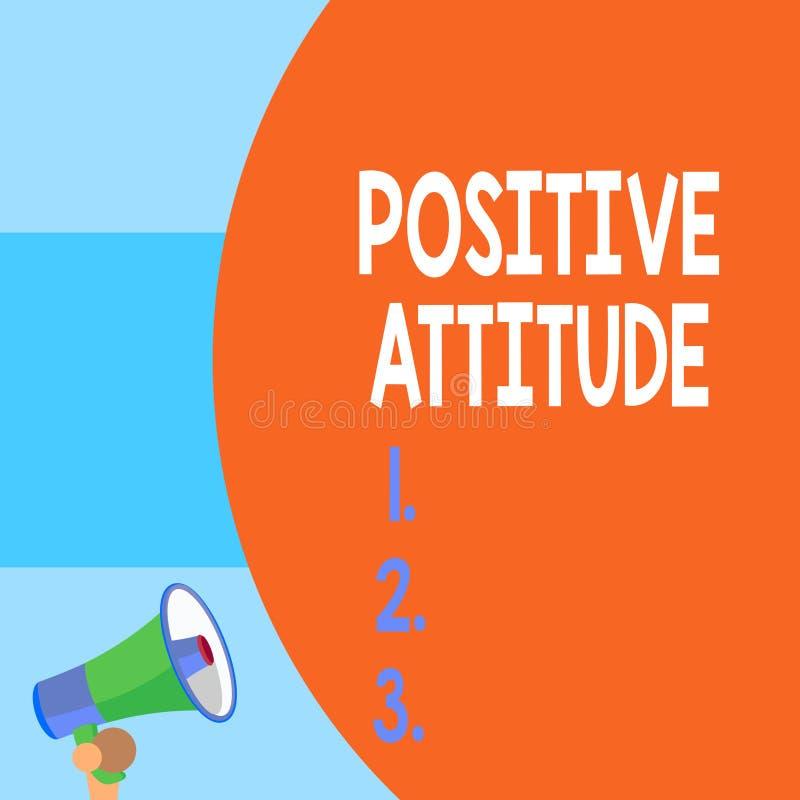 Handwriting tekst pisze Pozytywnej postawie Pojęcia znaczenie Jest optymistycznie w życiu Szuka dobrą rzeczy połówki część royalty ilustracja