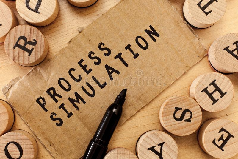 Handwriting tekst pisze Proces symulaci Pojęcie znaczy Technicznego przedstawicielstwa Zmyślał naukę system zdjęcia stock