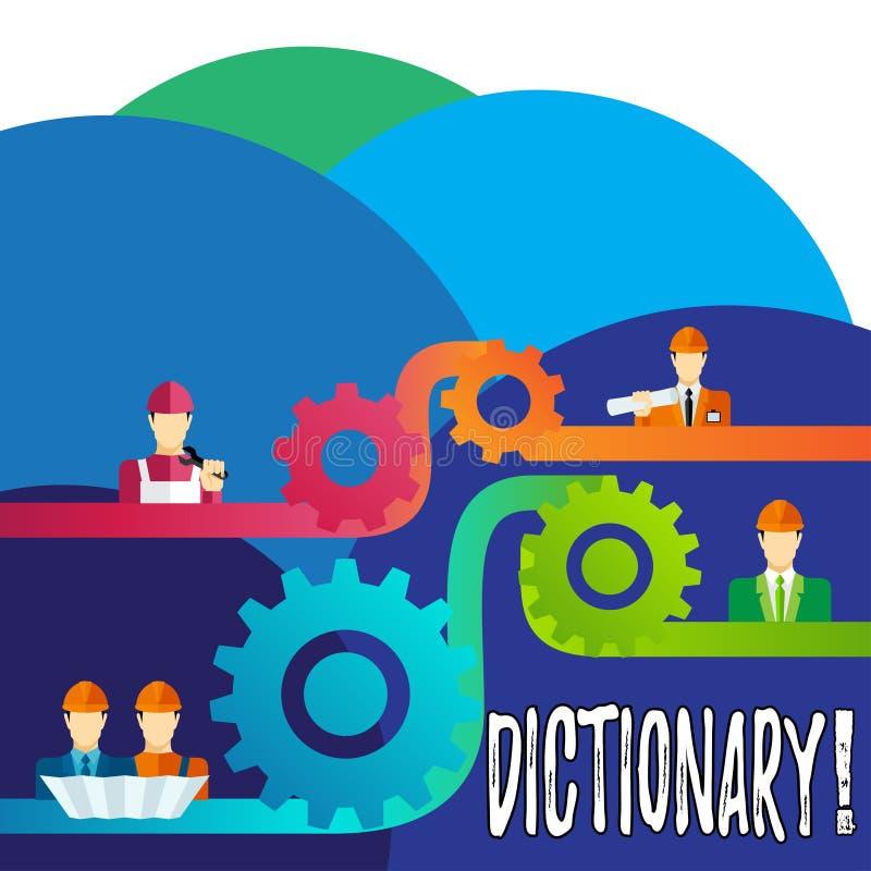 Handwriting tekst pisze słowniku Pojęcia znaczenie Uczy się innych bliskoznaczniki od książki i vocabs ilustracji