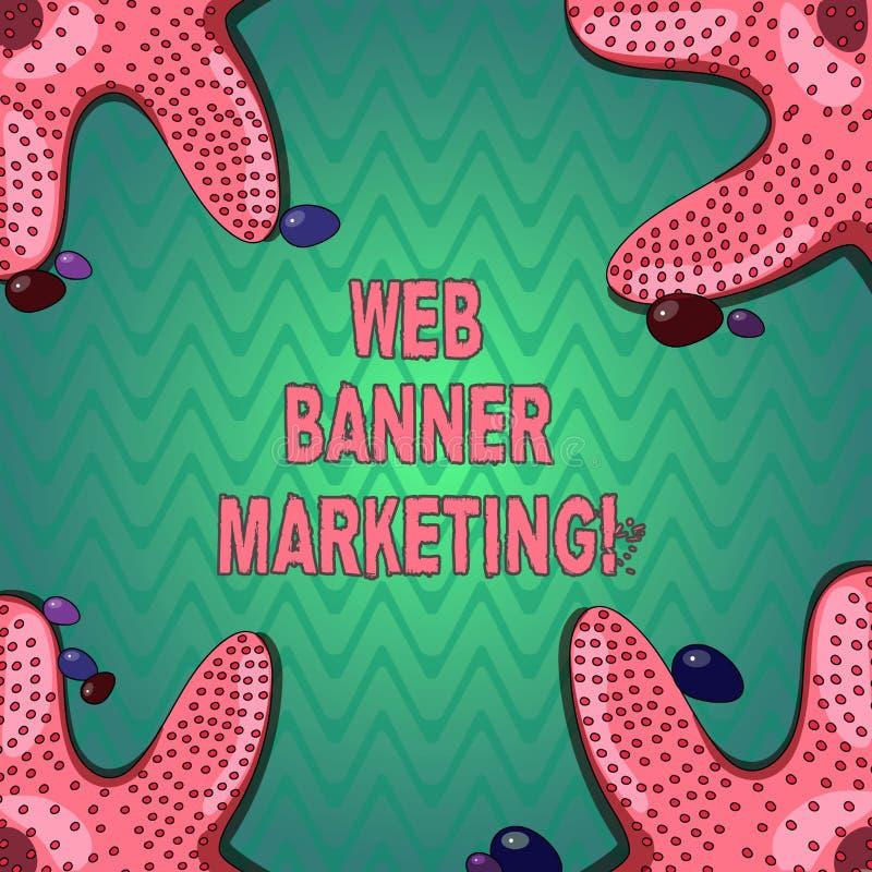 Handwriting tekst pisze sieć sztandaru marketingu Pojęcia znaczenie powoduje osadzać reklamę w strony internetowej rozgwiazdzie ilustracji