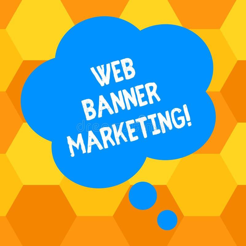 Handwriting tekst pisze sieć sztandaru marketingu Pojęcia znaczenie powoduje osadzać reklamę w strony internetowej pustym miejscu ilustracji