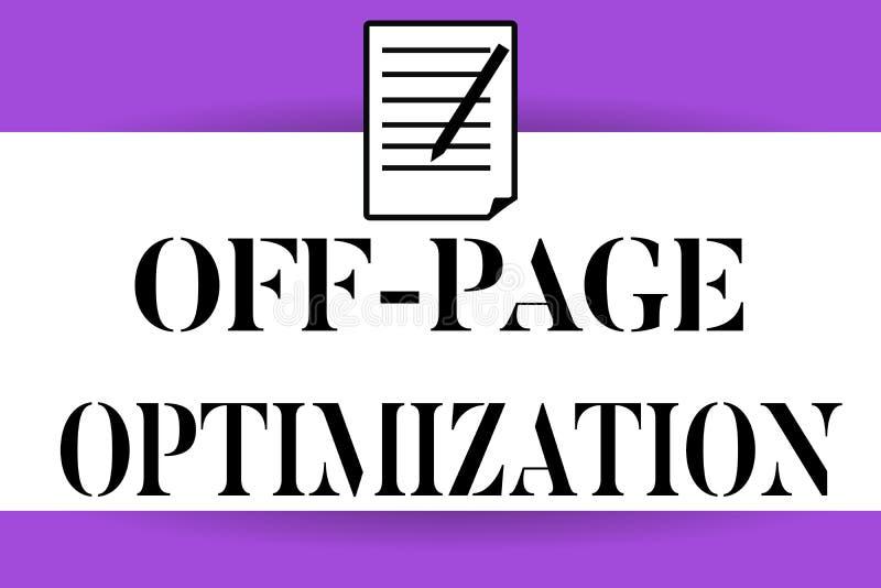 Handwriting tekst pisze Z strona optymalizacja Pojęcia znaczenia strony internetowej External procesu metody Promocyjny Zaliczać  ilustracji