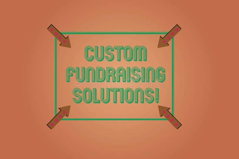 Handwriting tekst pisze zwyczajów Gromadzi fundusze rozwiązaniach Pojęcia znaczenia oprogramowanie pomagać podnosić pieniądze onl ilustracji