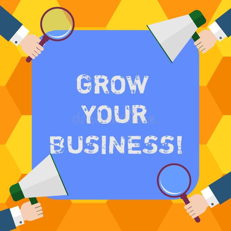Handwriting tekst R Twój biznes Pojęcie znaczy ulepszający niektóre miarę przedsięwzięcie firm sukcesu Hu analiza ilustracji
