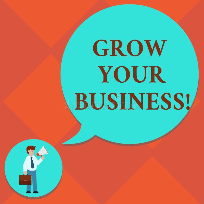 Handwriting tekst R Twój biznes Pojęcie znaczy ulepszający niektóre miarę przedsięwzięcie firm sukcesu mężczyzna wewnątrz ilustracja wektor
