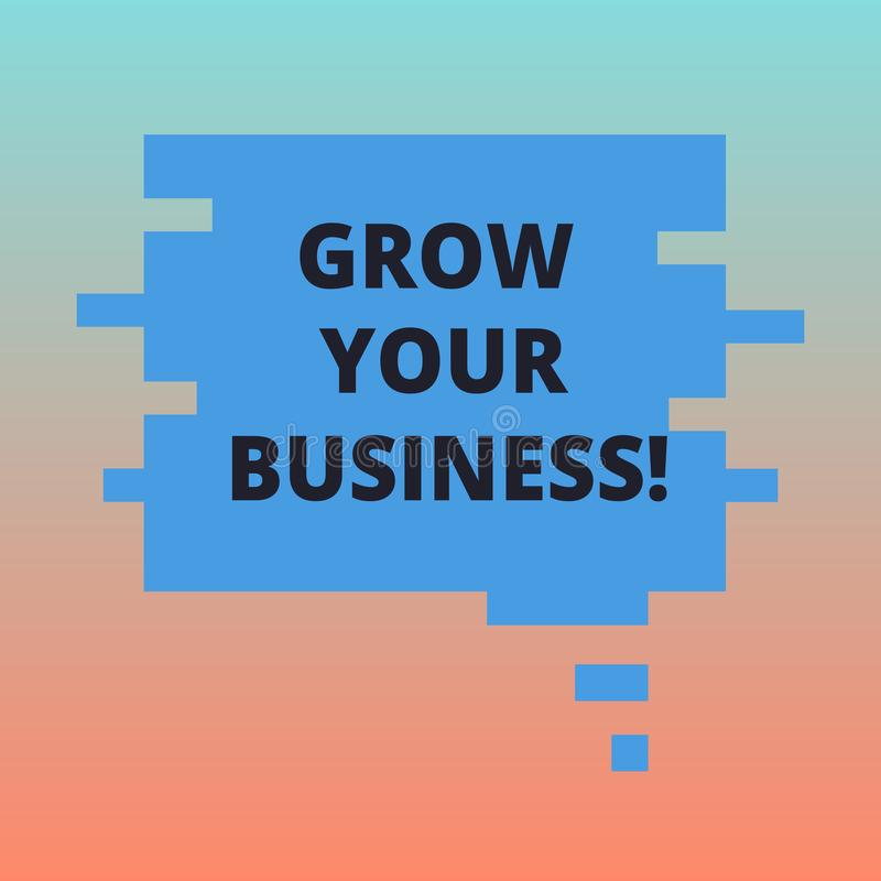 Handwriting tekst R Twój biznes Pojęcie znaczy ulepszający niektóre miarę przedsięwzięcie firm sukcesu Pusty kolor ilustracji