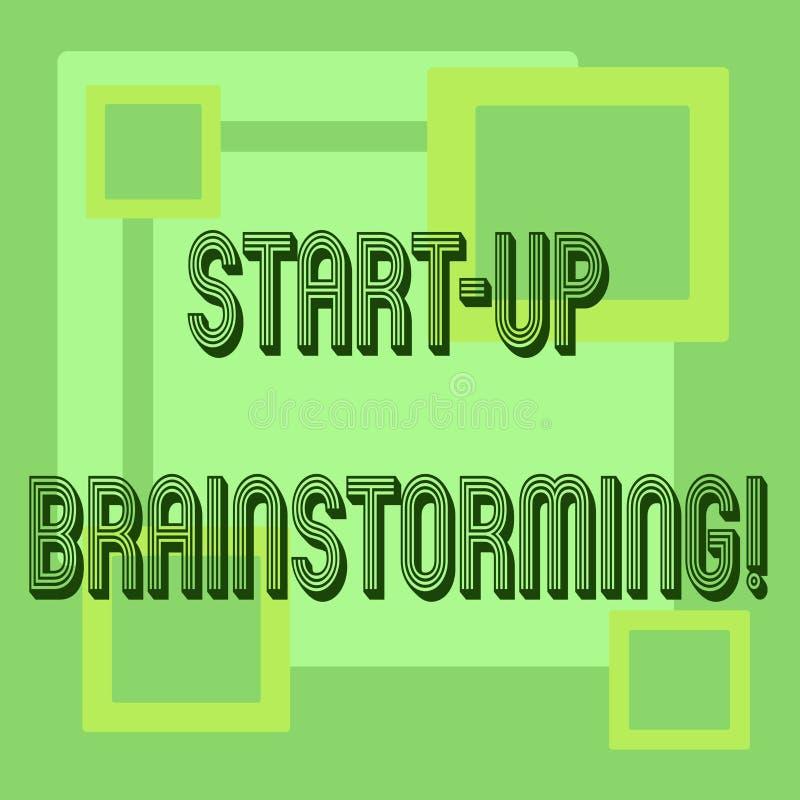 Handwriting tekst Zaczyna W górę Brainstorming Pojęcia znaczenia drużyny praca dla robić strategiom nowy biznes royalty ilustracja