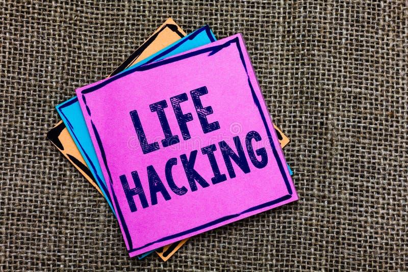 Handwriting teksta życia Siekać Pojęcie znaczy Proste i mądre techniki w osiągać łatwo zauważa Znacząco rem papier zadania obrazy stock