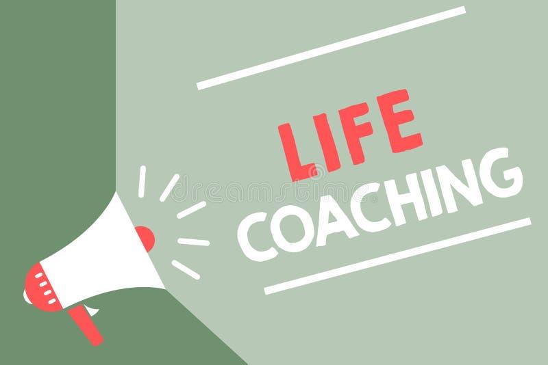 Handwriting teksta życia trenowanie Pojęcia znaczenie Ulepsza życia wyzwaniami Zachęca my w nasz kariera megafonu głośnika gre royalty ilustracja