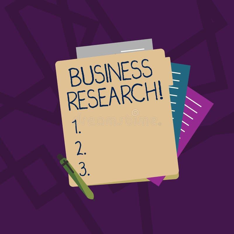 Handwriting teksta Biznesowy badanie Pojęcia znaczenia proces nabywanie szczegółowa informacja biznes Kolorowy royalty ilustracja