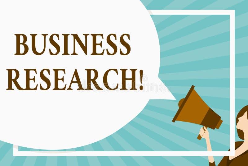 Handwriting teksta Biznesowy badanie Pojęcia znaczenia proces nabywanie szczegółowa informacja biznesowy Ogromny puste miejsce royalty ilustracja