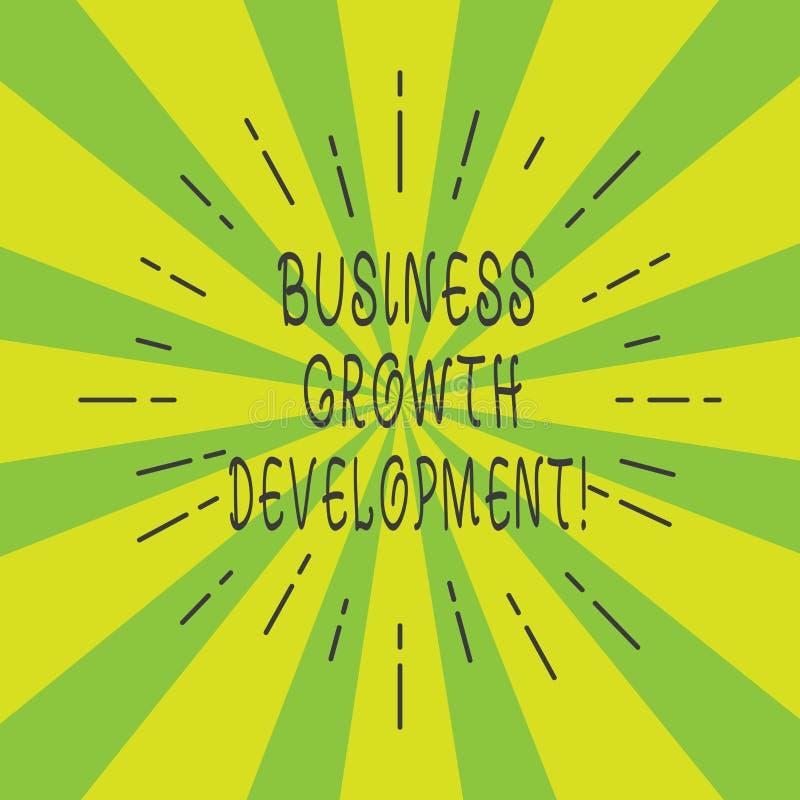 Handwriting teksta Biznesowy Wzrostowy rozwój Pojęcie znaczy ulepszający niektóre miarę przedsięwzięcie sukcesu Cienki promień royalty ilustracja
