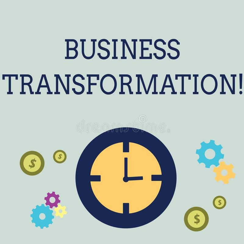 Handwriting teksta biznesu transformacja Pojęcia znaczenie Robi zmianom w conduction firmy ulepszenie ilustracja wektor