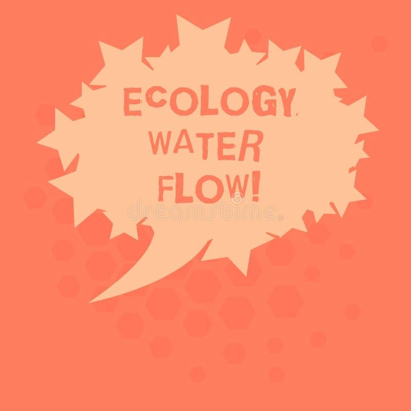 Handwriting teksta ekologii wody przepływ Pojęcia znaczenia system dla analysisaging ilości synchronizować i ilość wodny puste mi royalty ilustracja