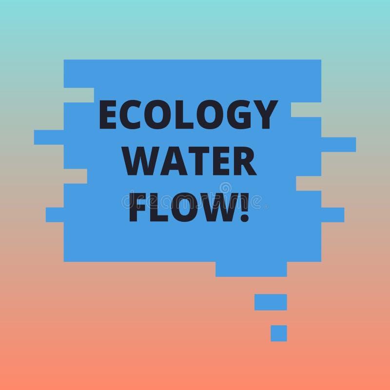Handwriting teksta ekologii wody przepływ Pojęcia znaczenia system dla analysisaging ilości synchronizować i ilość wodny puste mi ilustracja wektor