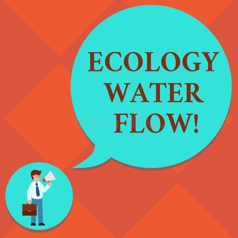 Handwriting teksta ekologii wody przepływ Pojęcia znaczenia system dla analysisaging ilości synchronizować i ilość wodny mężczyzn ilustracji