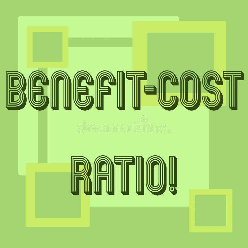 Handwriting teksta korzyści kosztu współczynnik Pojęcia znaczenia związek między korzyściami projekt i kosztami ilustracja wektor