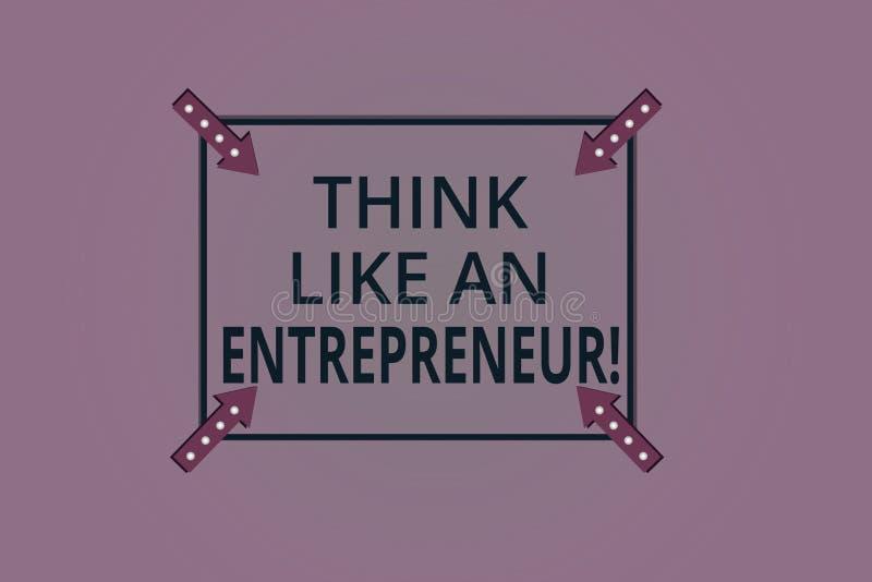 Handwriting teksta myśl Jak przedsiębiorca Pojęcia znaczenie przedsiębiorczość umysł Zaczynać w górę strategia kwadrata ilustracji
