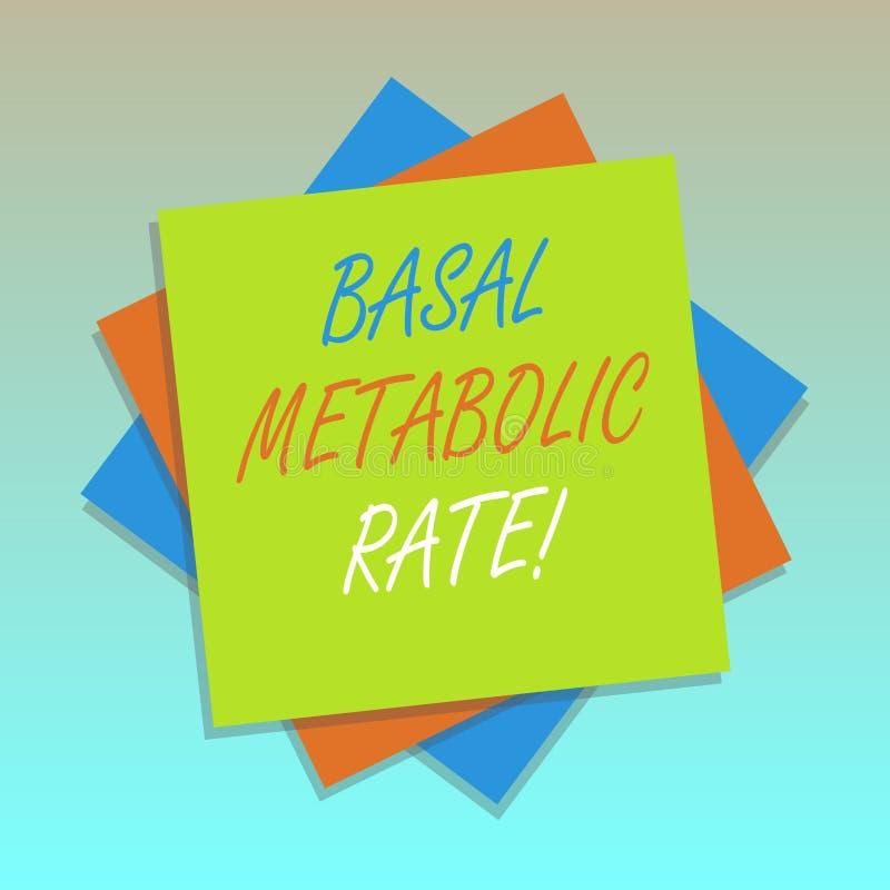 Handwriting teksta Nasadowy Metaboliczny tempo Pojęcie znaczy Minimalnego energetycznego poziom wymaga podtrzymywać zasadniczą fu ilustracja wektor