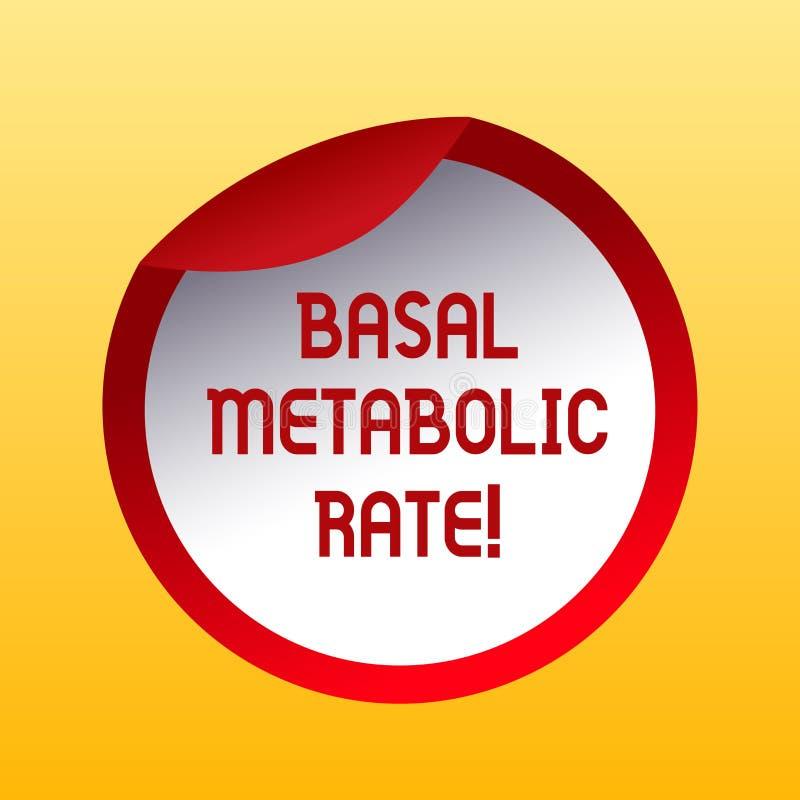 Handwriting teksta Nasadowy Metaboliczny tempo Pojęcie znaczy Minimalnego energetycznego poziom wymaga podtrzymywać zasadniczą fu ilustracji