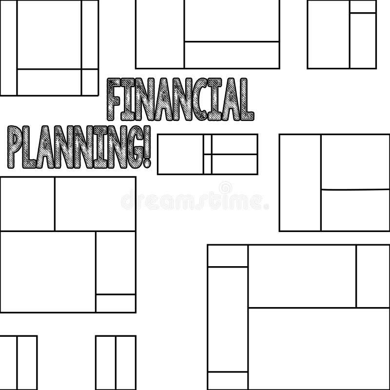 Handwriting teksta Pieniężny planowanie Pojęcia znaczenia księgowości Planistyczna strategia Analizuje royalty ilustracja