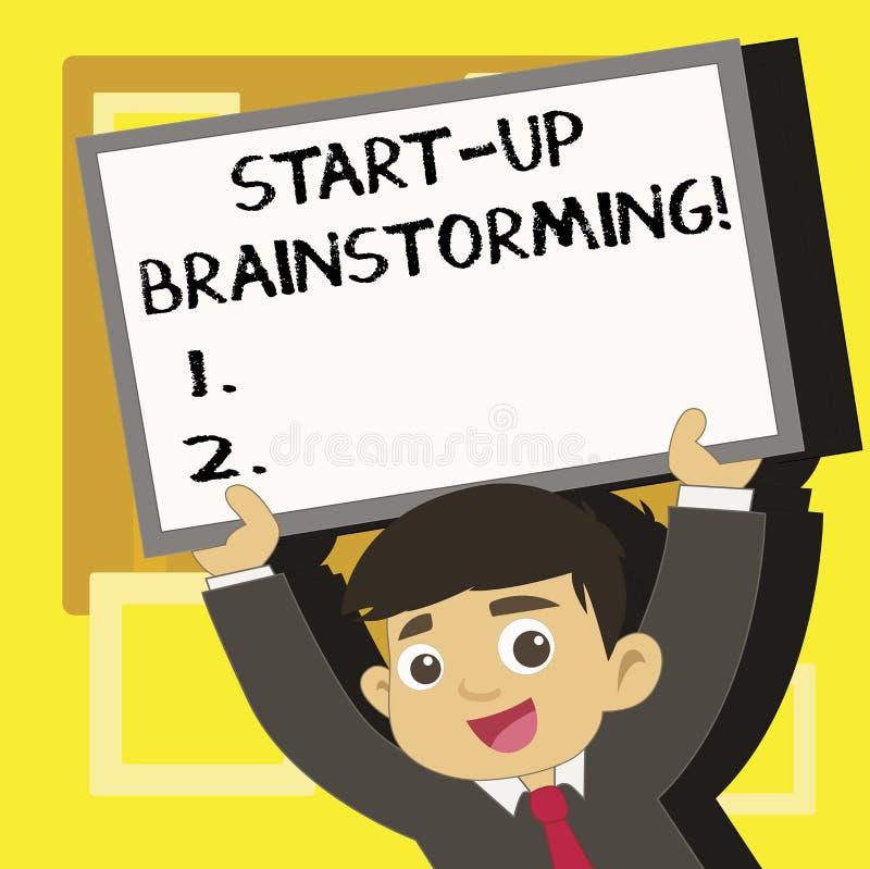 Handwriting teksta pisać Zaczyna W górę Brainstorming Pojęcia znaczenia drużyny praca dla robić strategiom nowy biznes royalty ilustracja