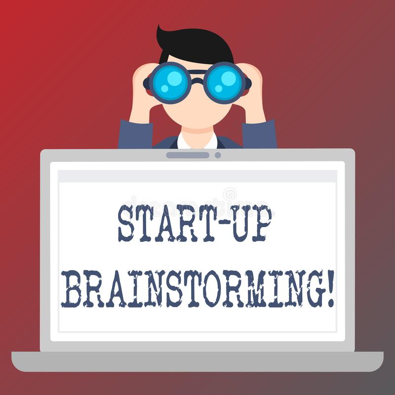 Handwriting teksta pisać Zaczyna W górę Brainstorming Pojęcia znaczenia drużyny praca dla robić strategiom nowy biznes ilustracji
