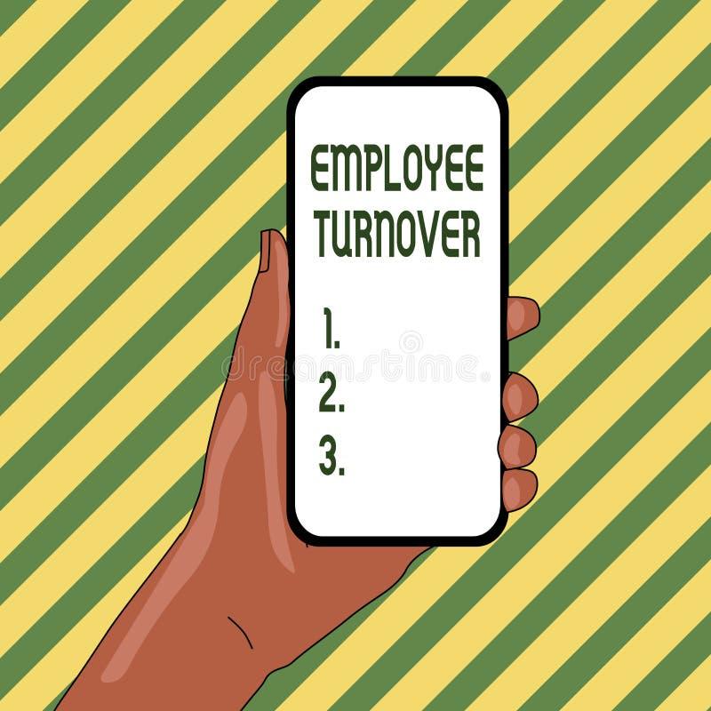 Handwriting teksta pracownika obr?t handlowy Pojęcia znaczenia liczba lub odsetek pracownicy organizacji zbliżenie który opuszcza ilustracja wektor