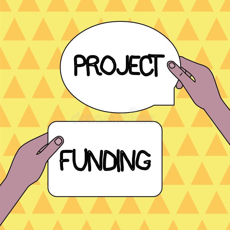Handwriting teksta projekta finansowanie E ilustracja wektor