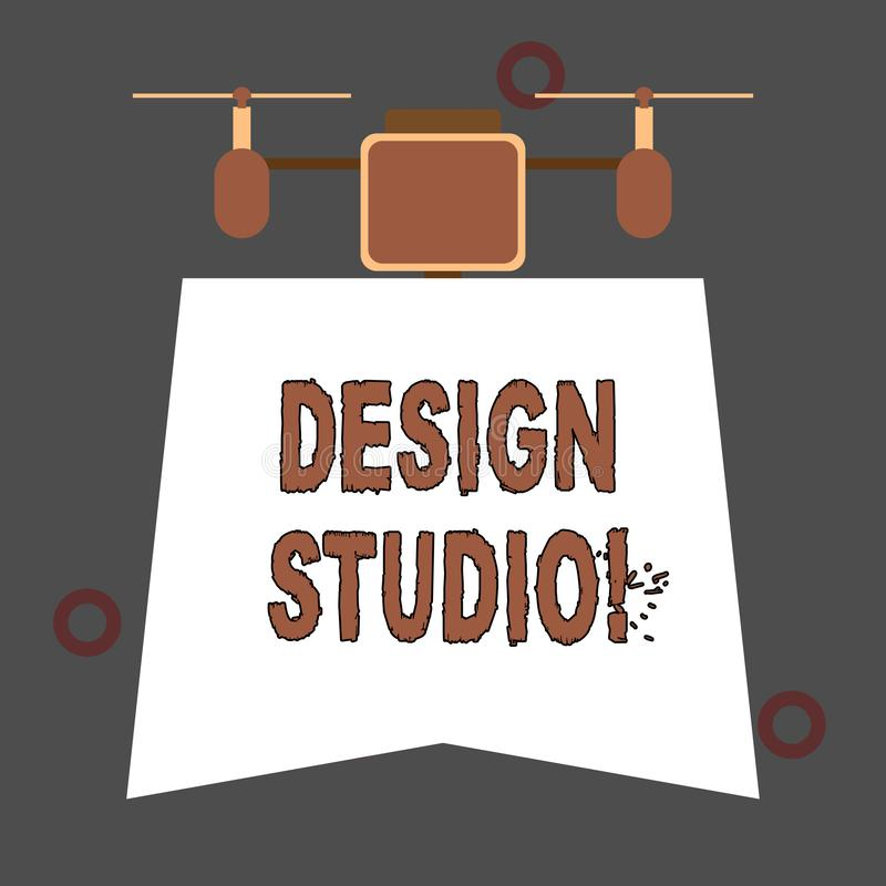 Handwriting teksta projekta studio Poj?cia znaczenia miejsce pracy dla projektant?w i rzemie?lnik?w anga?owa? w poczyna? royalty ilustracja