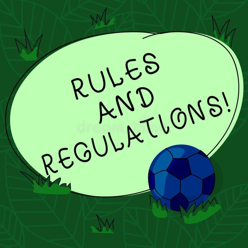 Handwriting teksta przepisy I reguły Pojęcia znaczenia wytycźni podążać gdy wchodzić do w transakcji piłkę nożną ilustracja wektor
