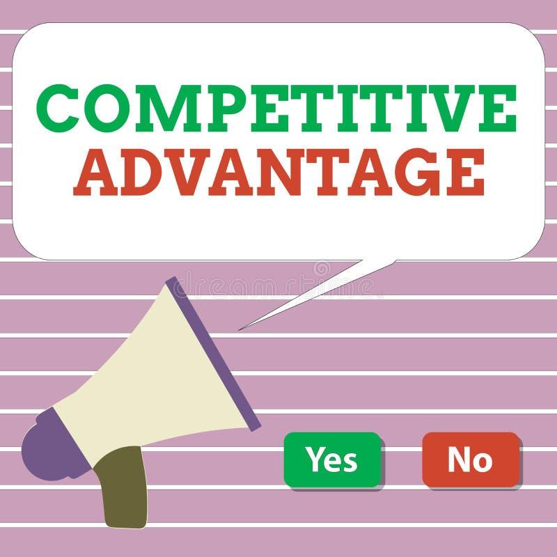 Handwriting teksta przewaga konkurencyjna Pojęcia znaczenia firmy krawędź nad inną Korzystnie Biznesową pozycją royalty ilustracja