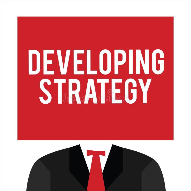 Handwriting teksta Rozwija strategia Pojęcia znaczenia organizacj proces Zmienia dosięgać cele ilustracji