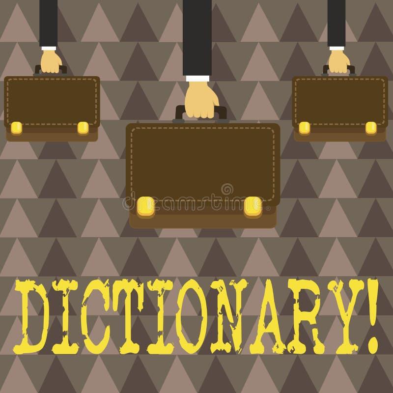 Handwriting teksta słownik Pojęcia znaczenie Uczy się innych bliskoznaczniki od książki i vocabs ilustracja wektor