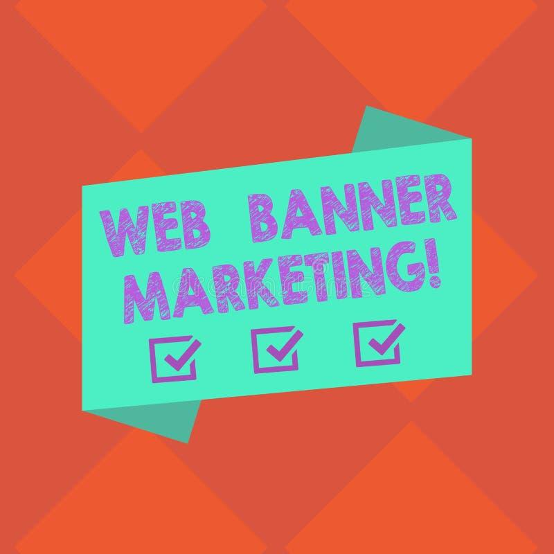 Handwriting teksta sieci sztandaru marketing Pojęcia znaczenie powoduje osadzać reklamę w strona internetowa Pustym kolorze ilustracja wektor