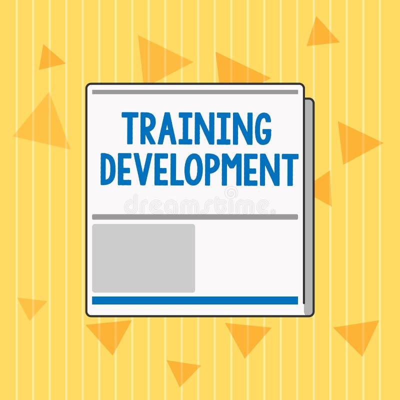 Handwriting teksta Stażowy rozwój Pojęcia znaczenie Uczy się wiedza program i Rozszerza umiejętności i royalty ilustracja